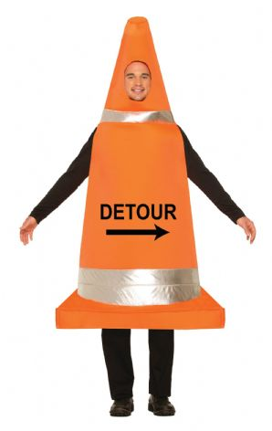 Traffic Cone Fancy Dress Costume